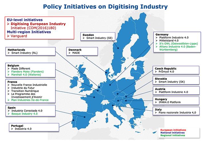 fabbrica digitale mappa iniziative europee