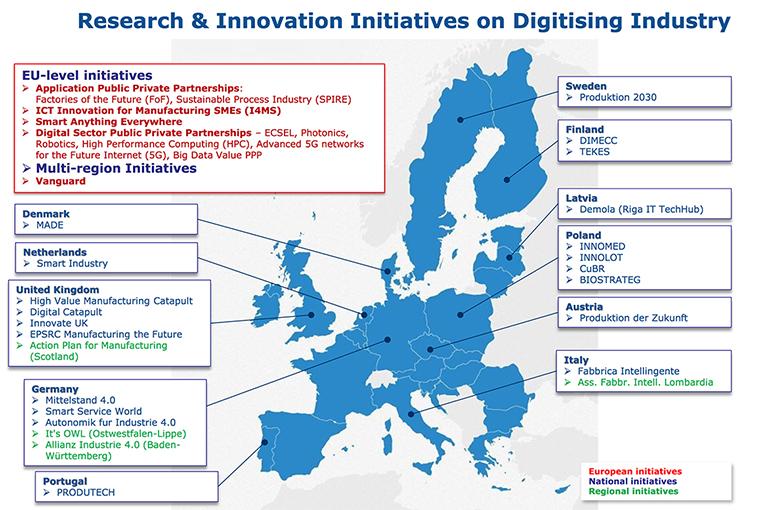 ricerca innovazione 4.0 mappa europea