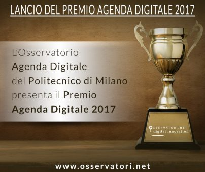 premio agenda digitale 2017 candidature