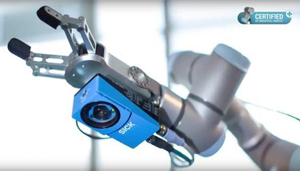 ispezione sensore visione Sick Universal Robots
