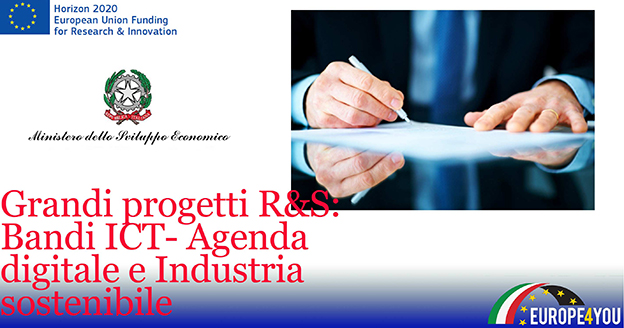 Bandi Agenda digitale Industria sostenibile