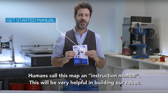 robot e.DO Comau unboxing Massimo Temporelli