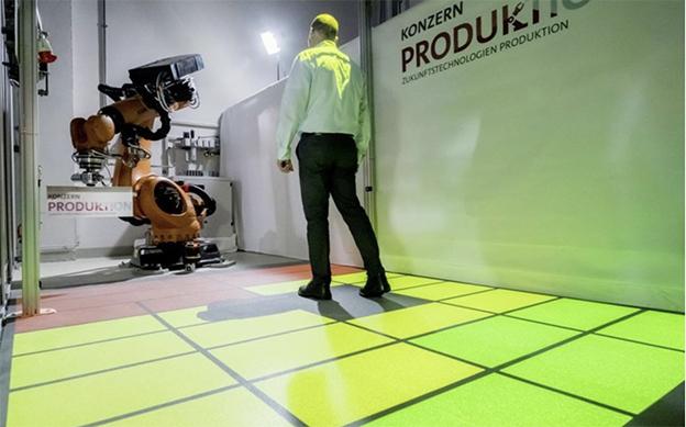 Sicurezza robot zone dinamiche Volkswagen