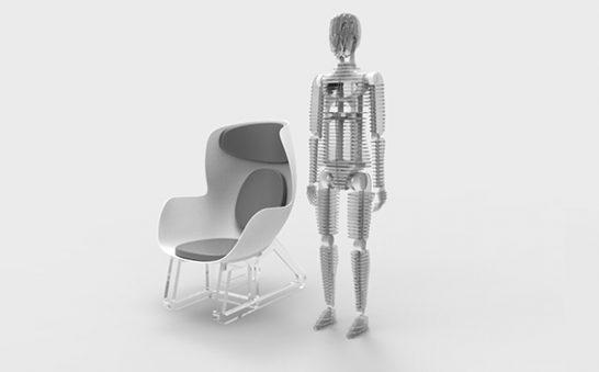 sensori manichino sedia intelligente THK