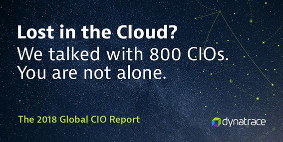 Dynatrace Global CIO report 2018