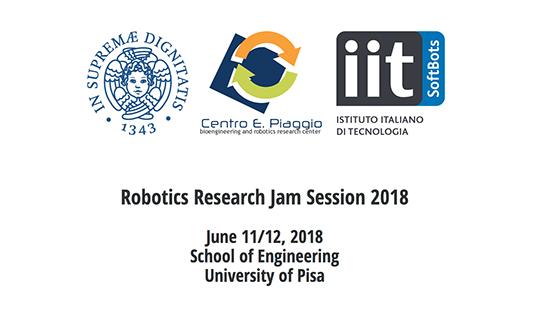 robotica Research Jam sessions RRJS Centro Piaggio Pisa