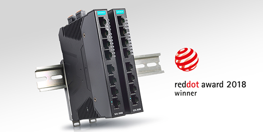 Moxa premio Red Dot smart switch SDS-3008