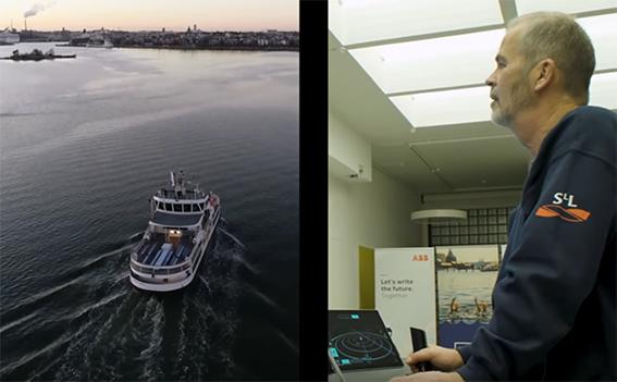 ABB test navigazione remota traghetti