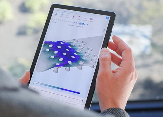Comsol client Android simulazione da remoto