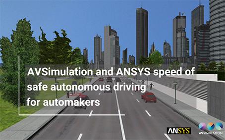 Ansys-guida-autonoma-AVSimulation