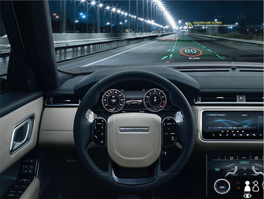 head-up display VR Jaguar Land Rover