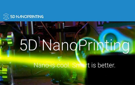 5Dnanoprinting stampa 5D MEMS