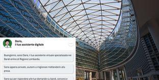 Regione Lombardia chatbot bandi online